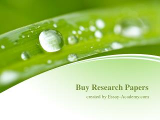 Buy Research Papers