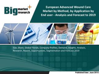 The Europe Advanced Wound Care Market is estimated to grow at a CAGR of 3.7% from 2014 to 2019