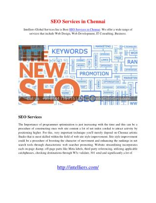 SEO Services in Chennai