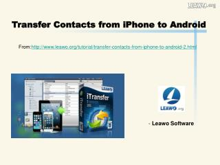 Transfer Contacts from iPhone to Android