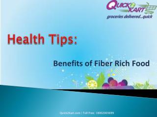 6 Benefits of Fiber Rich Food