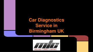 Car Diagnostics Service in Birmingham UK