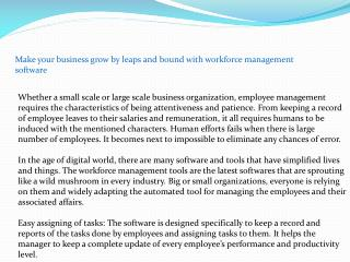 Make your business grow by leaps and bound with workforce management software