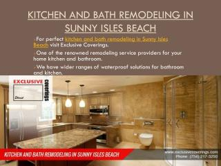 Kitchen And Bath Remodeling In Sunny Isles Beach