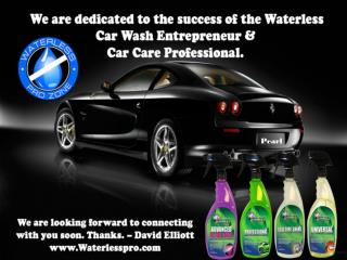 Waterless Car Wash Car Care Business-Waterlesspro