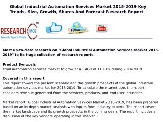 Global Industrial Automation Services Market 2015-2019