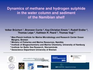 Dynamics of methane and hydrogen sulphide in the water column and sediment of the Namibian shelf