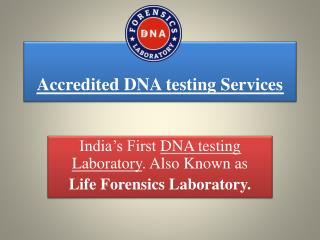 DNA Test in India