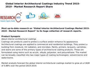 Global Interior Architectural Coatings Market 2015-2019 - Market Research Report