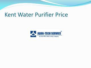 Kent Water Purifier Price
