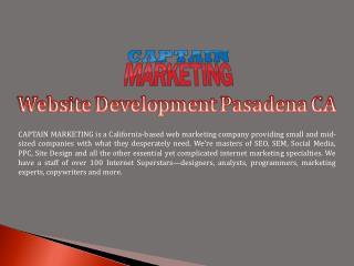 Website Development Pasadena CA