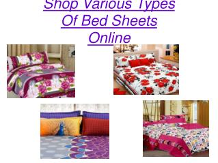 Shop Various Types Of Bed Sheets Online