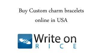 Buy Custom charm bracelets online in USA