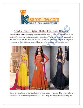 Anarkali Suits Pnline Shopping In United States