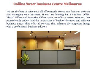 Hire Serviced Offices in Melbourne CBD