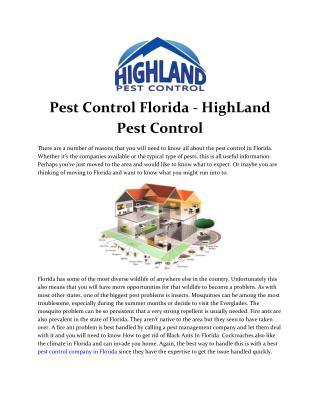HighLand Pest Control - Pest Control Florida