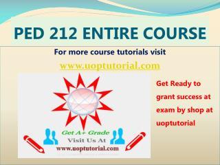 PED 212 ASH Tutorial Course/Uoptutorial