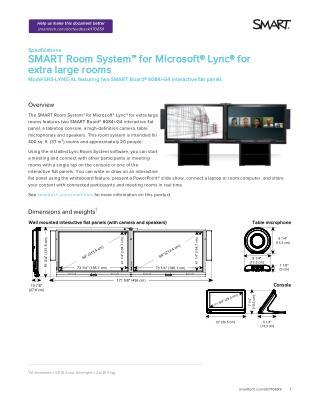 SMART Board� 8084i-G4 Interactive Flat