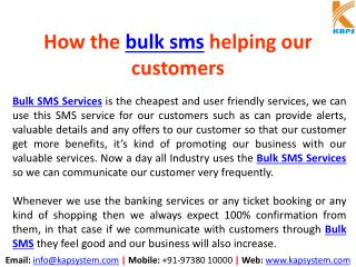 How Bulk SMS helping our customers