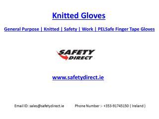 General Purpose | Knitted | Safety | Work | PELSafe Finger Tape Gloves | Safetydirect.ie