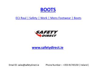 ECJ Raul | Safety | Work | Mens Footwear | Boots | safetydirect.ie