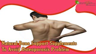 Natural Bone Support Supplements To Avoid Osteoporosis Problem