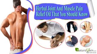 Herbal Joint And Muscle Pain Relief Oil That You Should Know