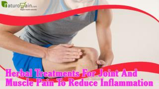 Herbal Treatments For Joint And Muscle Pain To Reduce Inflammation