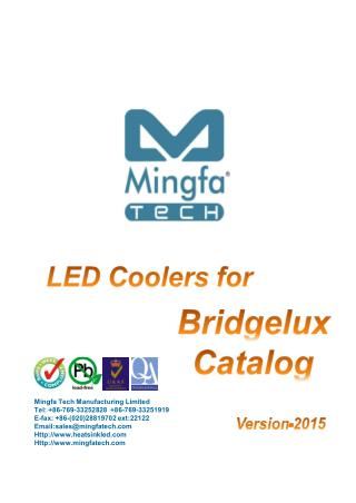LED Coolers for Bridgelux Catalog