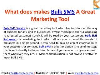 What makes Bulk SMS a Great Marketing Tool