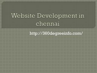 Website Development in chennai,