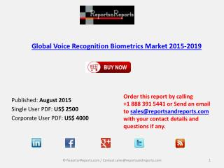 Global Voice Recognition Biometrics Market 2015-2019