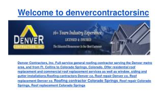 Roof replacement Denver co, Roofing contractor Colorado Springs, Roof repair Colorado Springs