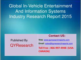 Global In-Vehicle Entertainment And Information Systems Market 2015 Industry Share, Overview, Forecast, Analysis, Growt