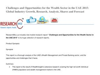Challenges and Opportunities for the Wealth Sector in the UAE 2015