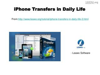 iPhone Transfers in Daily Life
