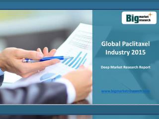 In-depth analysis of Paclitaxel Industry 2015 - Global Deep Market