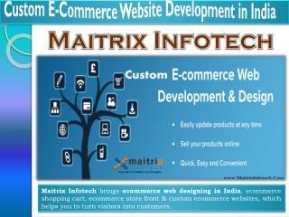 Custom Ecommerce Website Development India