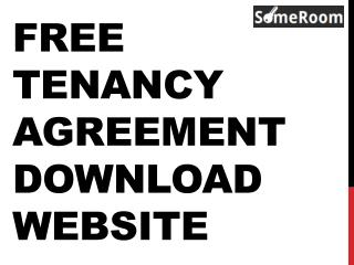 Free Tenancy Agreement Download