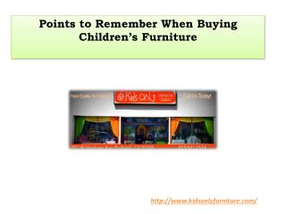 Points to Remember When Buying Children's Furniture