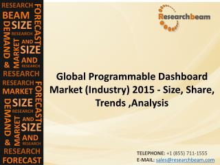 Programmable Dashboard Market (Industry) 2015 -  Capacity, Production, Price