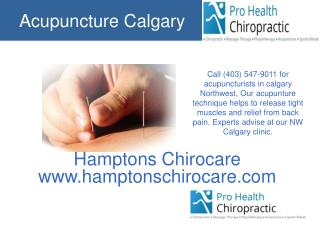 Acupuncture Calgary