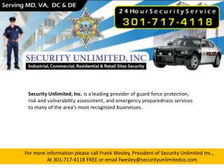 Personal Protection Companies Maryland
