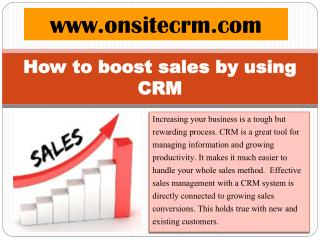 How to boost sales by using CRM