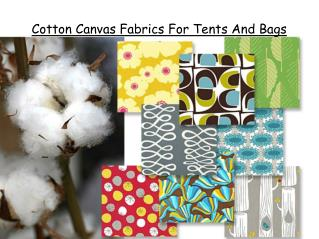 Cotton Canvas Fabrics For Tents And Bags