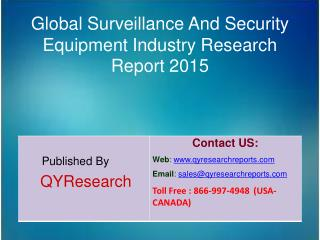 Global Surveillance And Security Equipment Market 2015 Industry Forecasts, Analysis, Applications, Research, Trends, Ove