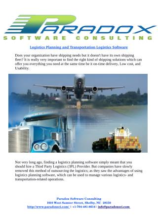 Is Logistics Planning and Transportation Logistics Software Right Choice For Your Organization?