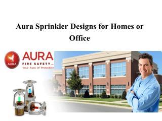 Aura Sprinkler Designs for Homes or Office