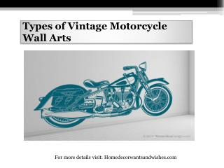 Types of Vintage Motorcycle Wall Arts