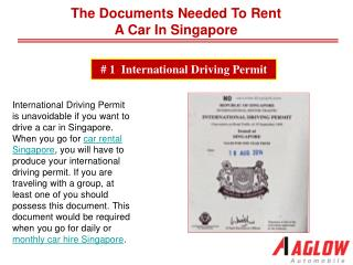 The documents needed to rent a car in Singapore